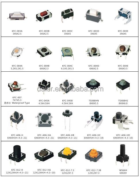 Wholesale Daier TSL06223M Illuminated Tact Switch With Power Logo ...
