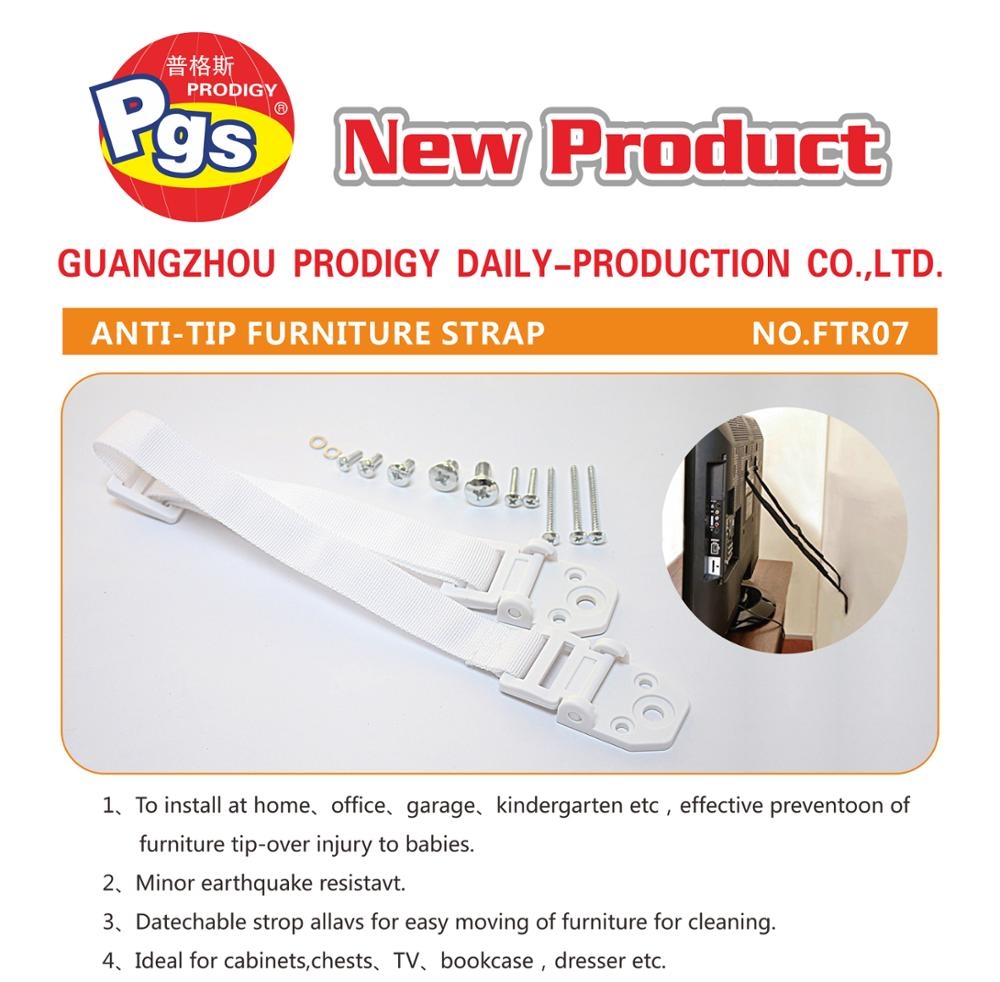 Heavy appliance Plastic anti-tip tv strap safety anti tip furniture wall straps