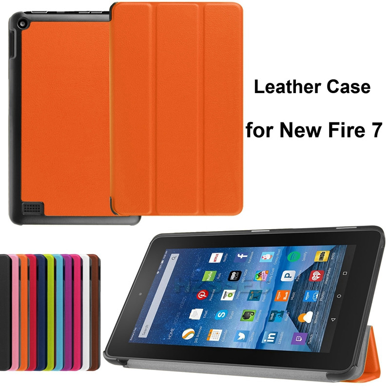 Shockproof 7 inch kids rugged stand leather case tablet case for Amazon New Fire 7