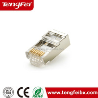 Good performanc for solid cable unshield rj45 plug/cat6 connector 23awg RJ45 Anschluss