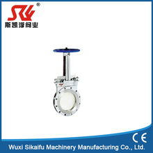 China manufacture 316 stainless steel Handwheel Operated knife gate valve