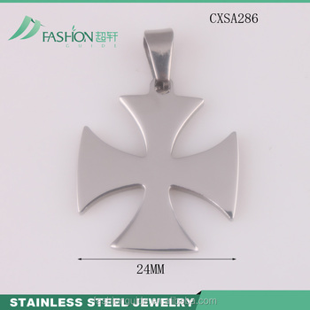 Stainless Steel Cross Necklace Charms Blank Charms