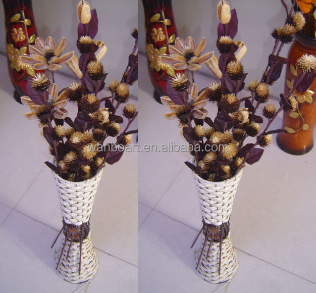 pure natural material handmade dried flower bouquets different color and shapes