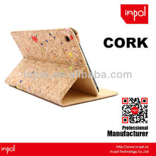 Distinctive cork fabric magnet and stand case for ipad mini