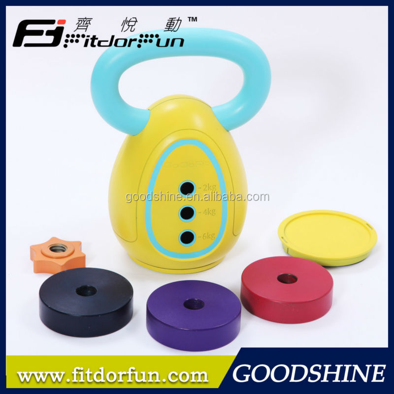Factory Wholesale <strong>Weight</strong> Lifting Trainer Interchangeable Multicolored Fitness Equipment Kettlebell