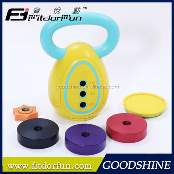 Factory Wholesale Weight Lifting Trainer Interchangeable Multicolored Fitness Equipment Kettlebell