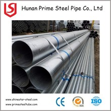 Hot cheap q235 black powder coated galvanized steel pipe price list