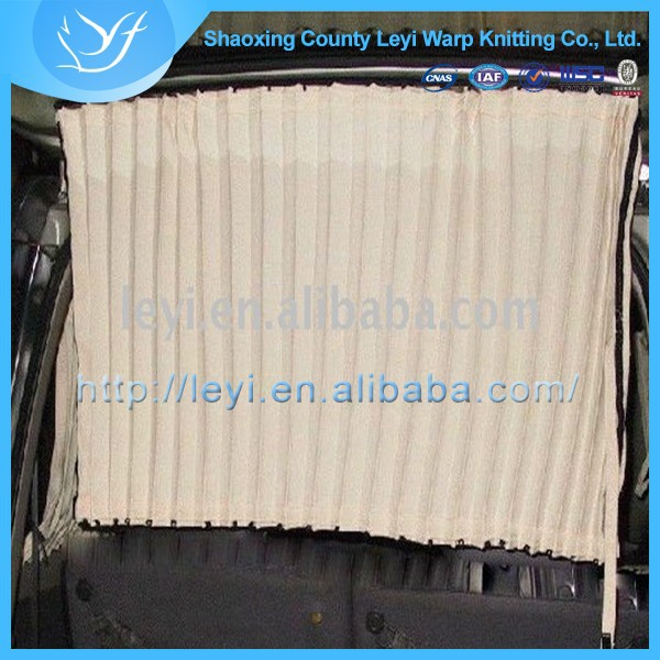 Solid Colour Curtain Ready Made Curtain With Warp Knitted Fabric