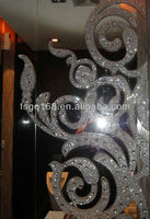 frosted glass room dividers for good design