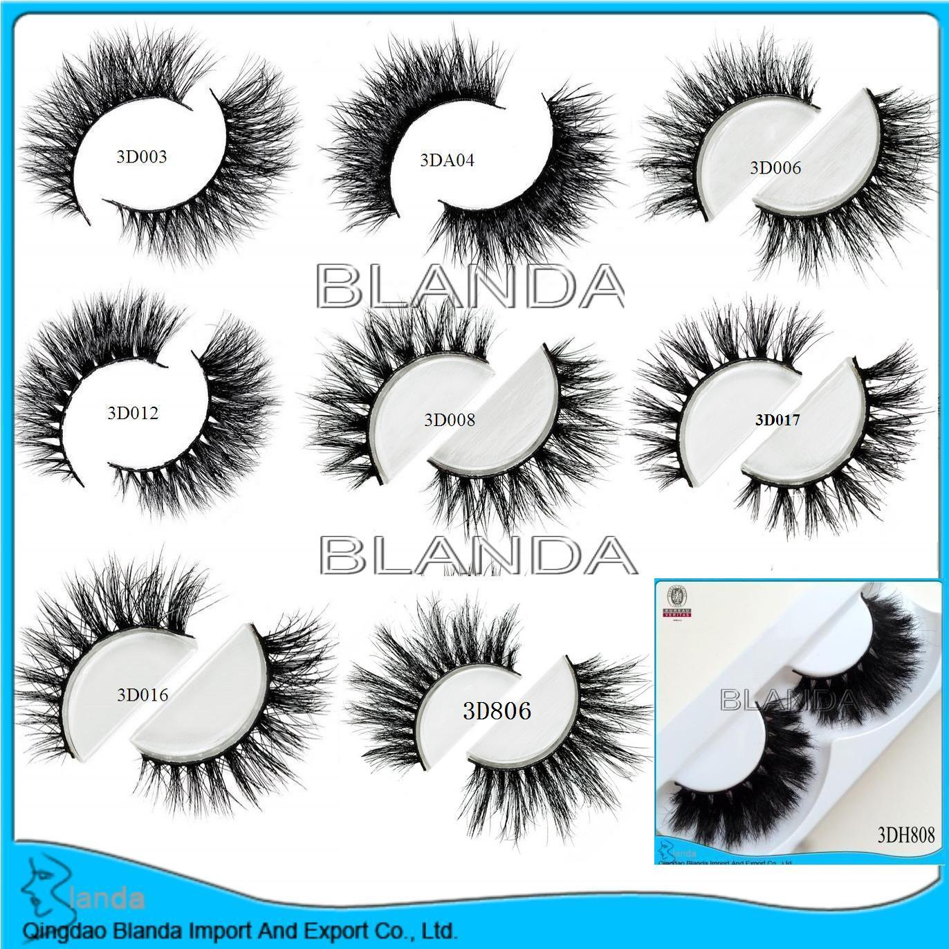 2018 China new private label mink eyelashes 3d mink lashes