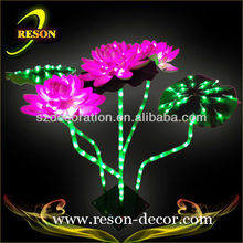 RS-PC02 H:45cm LED lighting lotus flower decoration