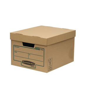 Different size storge package moving corrugated carton boxes with die cut handle