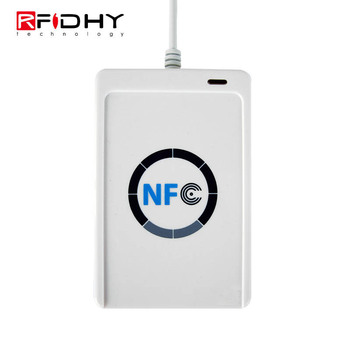 Waterproof Small Rugged External USB Long Range Distance RFID HF NFC Card Tag Reader