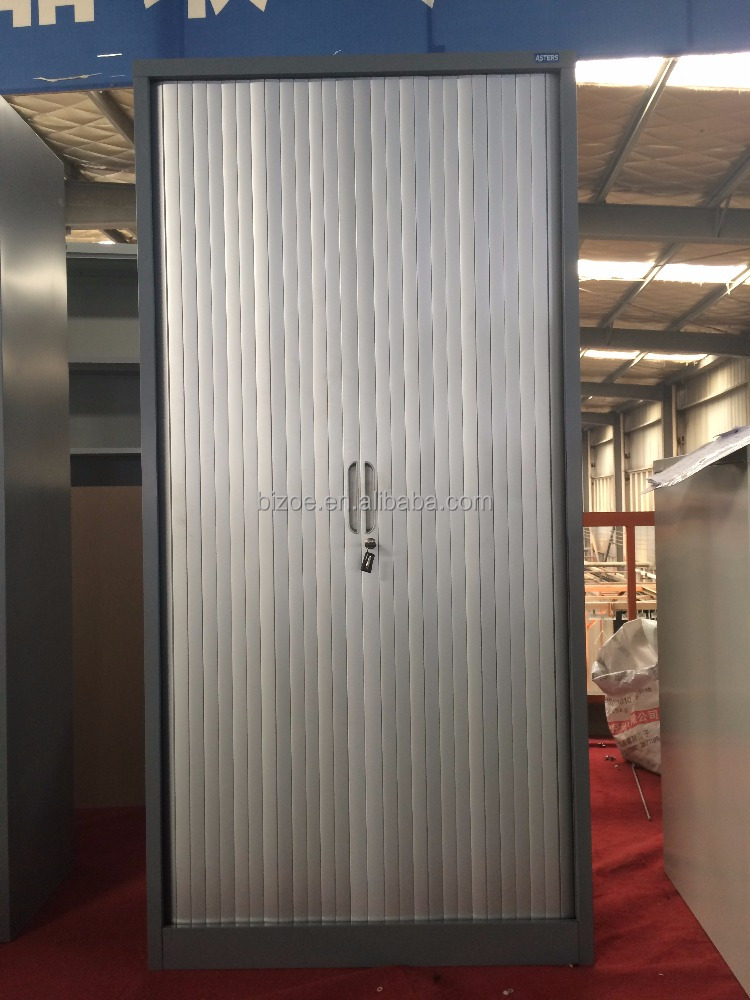 High quality double door steel tambour office cabinets roller shutter door metal cupboard