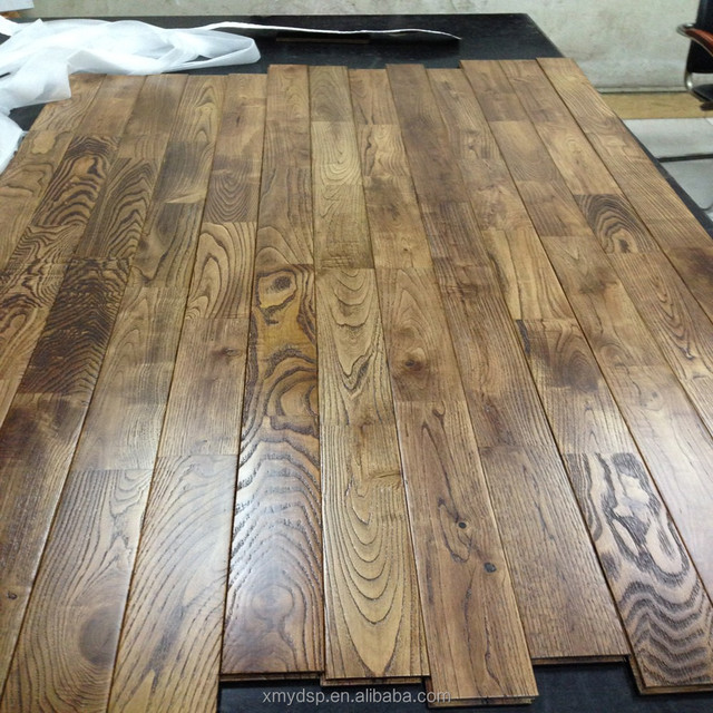 Stock Cheap Chestnut solid finger jointed wood floor