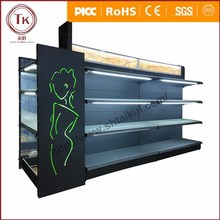 LED light display cabinet supermarket cosmetic shelf and bathroom display shelf