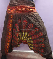 Aladdin harem pants boho hippie pants designer yoga pants traditional Indian hand block printed trousers from jaipur