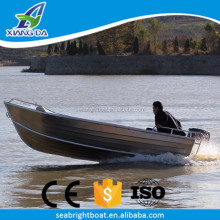 China Hot Sale High Speed Recreational Deep V Hull Welded 14ft Aluminum Boat with Outboard Motor
