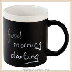 ceramic message mug with writting surface design cup