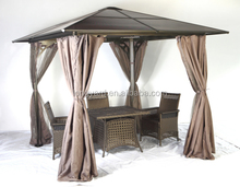 Large galvanized metal roof gazebo,outdoor gazebo of four feet