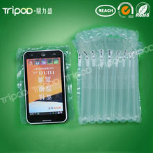 Shock resistant inflatable air bag for mobile protective packaging