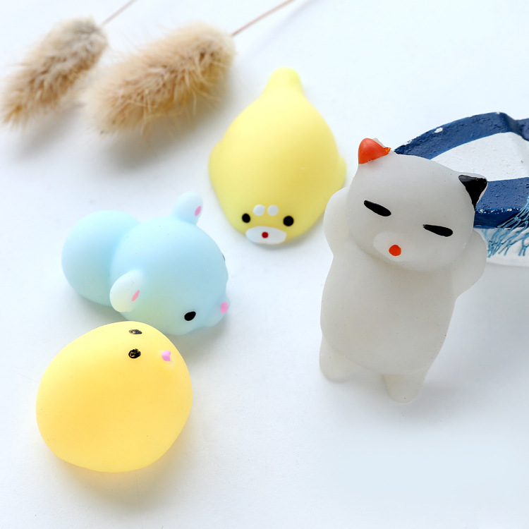 Wholesale good quality squishy cat toy pressure release funny TPR squishy squeeze seal toy squishy toy