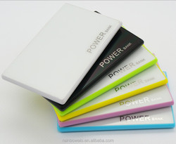 2015 portable mobile power bank 2600mah slim gift name card power bank charger support oem service