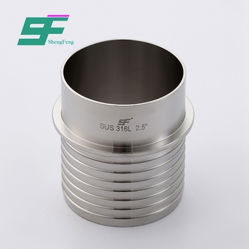 Low price use long lasting hygienic union stainless steel hose connector