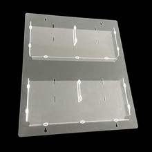 Free standing plastic clear brochure holders wall mount