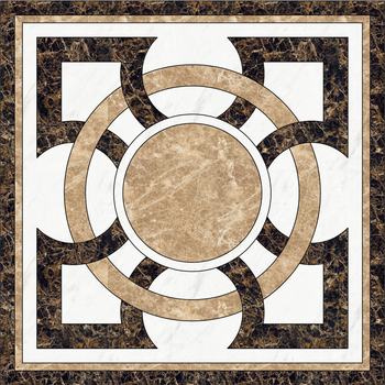 cute shape Marble Floor Inlays