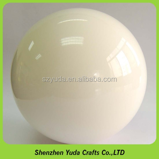 custom decoration display sphere 90mm milky solid white acrylic ball