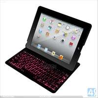ACC4S Hot Selling Light Up Keyboard Leather Table Case For Ipad 2/3/4 P-iPD234CASE092
