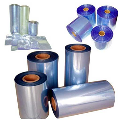 PVC high tenacity stretch shrink wrapping film blue DVD box packaging film
