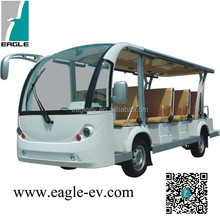 electric fourteen shuttle bus, CE approved,cheap and fashion