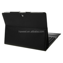 Bluetooth 3.0 Keyboard Leather Case with Holder for Samsung Galaxy Note 10.1 2014 Edition P600(Black)