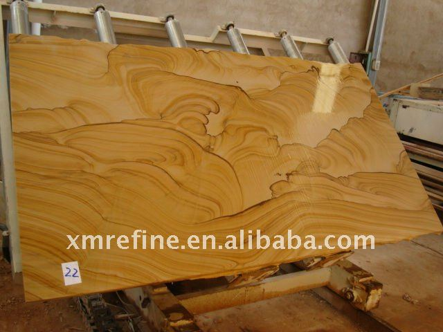 landscaping yellow sandstone slab