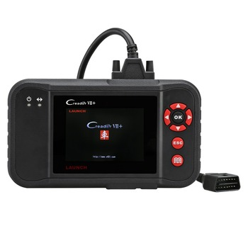 Testing Engine/Transmission/ABS/ Airbag System Update via PC OBDII EOBD Scanner Launch X431 Creader VII+ Auto Code Reader