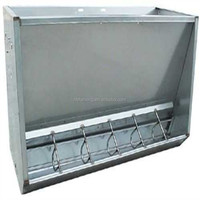 Stainless steel bulk pig feeding trough