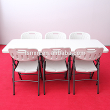 4ft .5ft .6ft .8ft used outdoor plastic folding tables and chairs for event