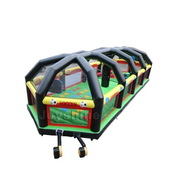 6 in 1 Inflatable Football Dodgeball Area Joust Twister Baseball Bounce House Field Cage Volleyball Game Court For Adult