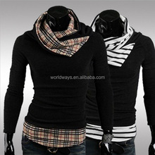 BY-H015 Fashional China 2014 Autumn Special Designing Neck Mens Knitwear