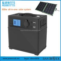 300w solar power supply generator 220v AC output with 12V 5V output with pure sine wave inverter MPPT