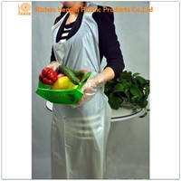 Quality Plastic kitchen apron ,Cleaning disposable pe apron