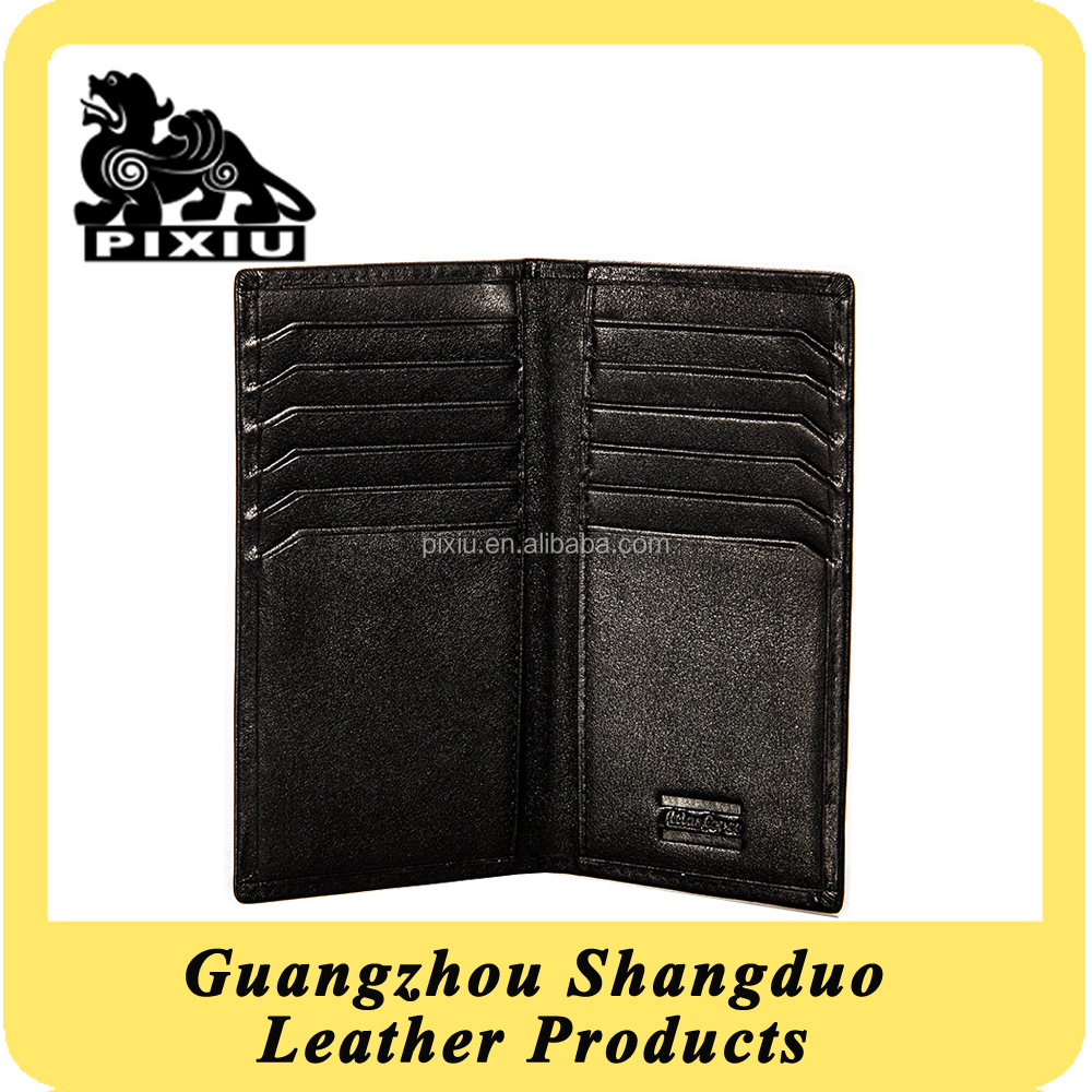 Wholesale Low MOQs Quality Leather Wallet Case With Card Holder
