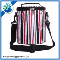 Hot Sale Insulated Food Wine Stripe Fashion Disposable lunch Cooler Bag