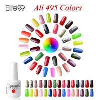 Elite99 Easy Use Easy Remove UV Gel Nail Polish Top Quality Fashion 15ml All495 colors Gel Lacquer with Free 1 Pair of Top&Base