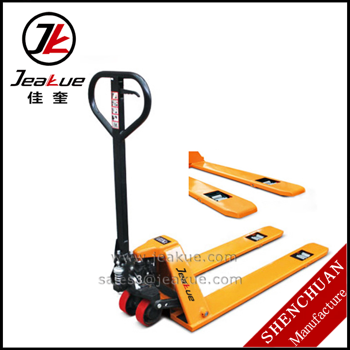 2015 Min 1.0T China Manual High Hydraulic Lift Hand Pallet Truck with scale
