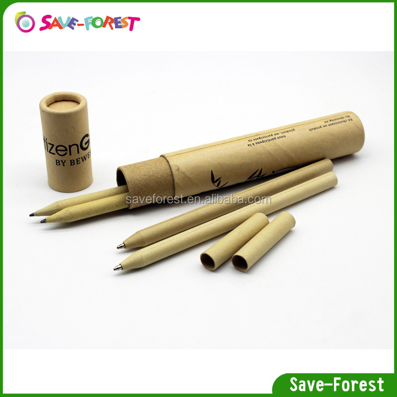recycled paper pencil personalized pencils stationery set for gift
