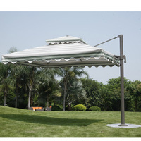 Aluminium rome outdoor double outdoor umbrella (DW-U001)