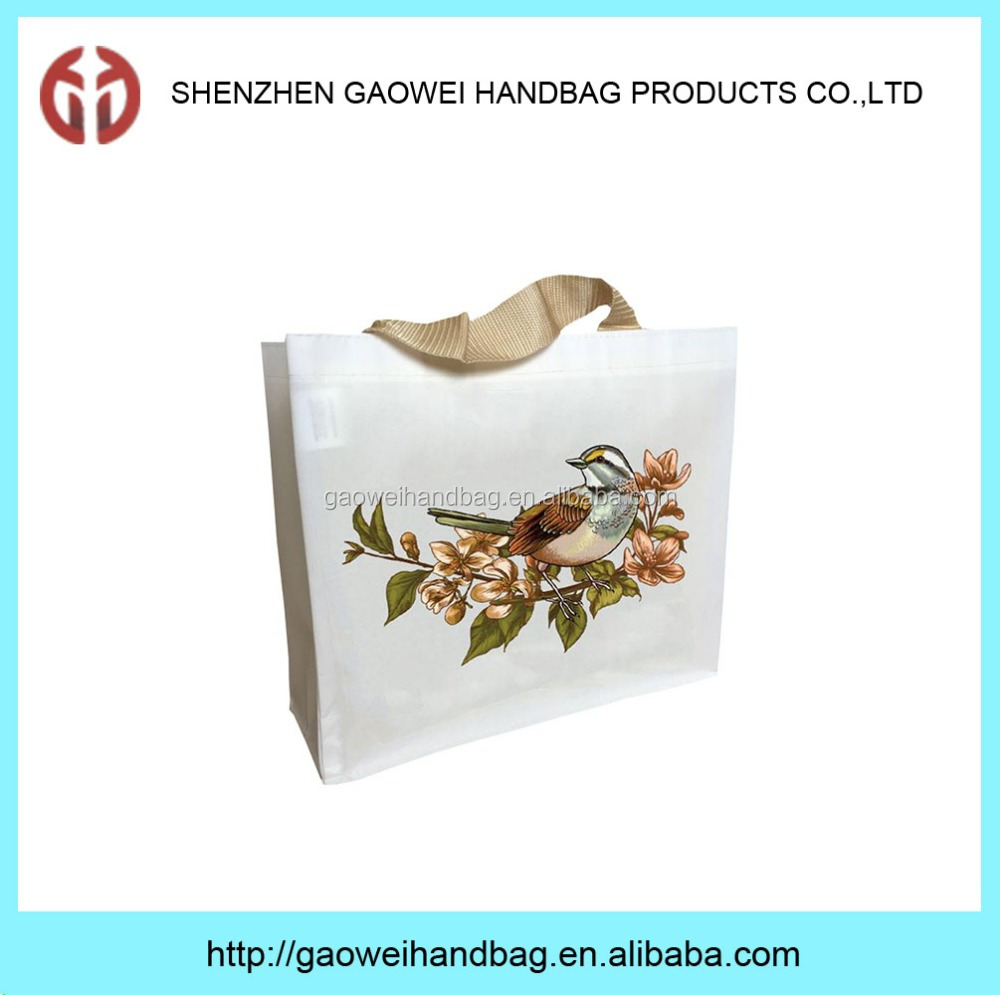 Customized pictures printing nonwoven shopping bag,promotion bag and gift bag